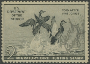Scan of RW18 1951 Duck Stamp