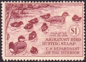 Scan of RW8 1941 Duck Stamp
