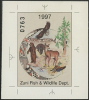 Scan of 1997 Zuni Pueblo Habitat Stamp