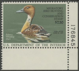 Scan of RW53 1986 Duck Stamp