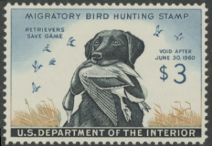 Scan of RW26 1959 Duck Stamp  MNH VF - XF