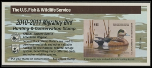 Scan of RW77A 2010 Duck Stamp  MNH VF